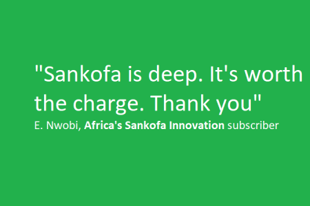 Africa's Sankofa Innovation Book Is Helping Entrepreneurs: My Exchange With One